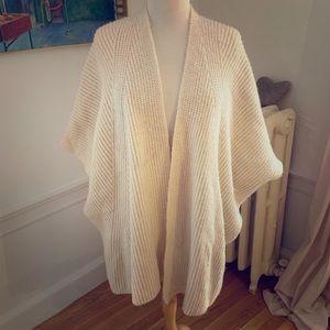 Zara Soft Oversized Poncho Sweater